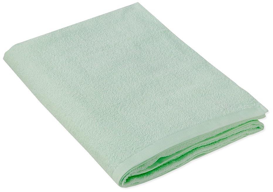 ファウル楽なリラックスしたキヨタ 抗菌介護タオル(大判タオル1枚入) グリーン 80×135cm