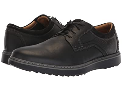 Clarks Un Geo Lace (Black Leather) Men