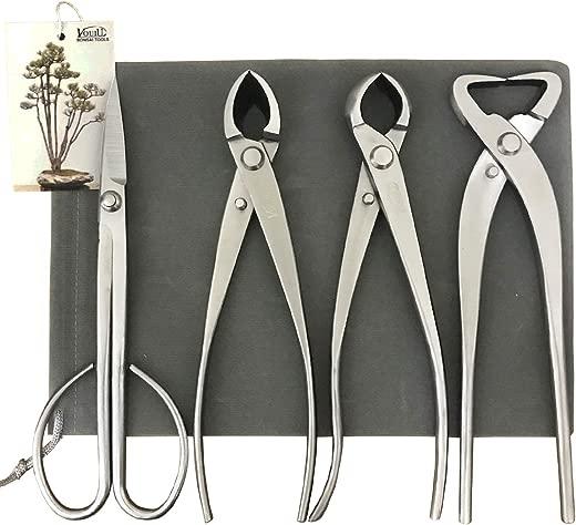 ✅vouiu 4-Piece Bonsai Tool Set,Concave Cutter,Knob Cutter,Trunk Splitter,Bonsai Scissors #Power & Hand Tools