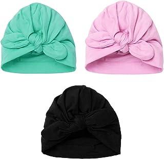 TiaoBug Set of 3 Newborn Baby Cotton Knot Rabbit Nursery Beanie Hospital Hat