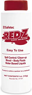 Safetec Red Z, 5 oz. Spill Control Solidifier, Shaker top Bottle (24/case)
