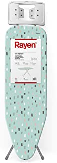 Rayen Tabla de Planchar, con Malla metálica, Altura Regulable y reposa, Medidas: 120 x 38 cm, Estampada, 120 x 38
