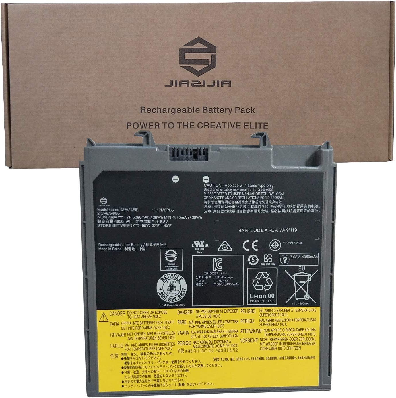 Excellent JIAZIJIA L17M2PB5 Laptop Battery Ranking TOP3 Replacement V330-14A for Lenovo