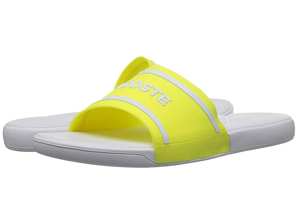 Lacoste Kids L.30 118 2 (Little Kid/Big Kid) (Fluorescent Yellow/White) Kid