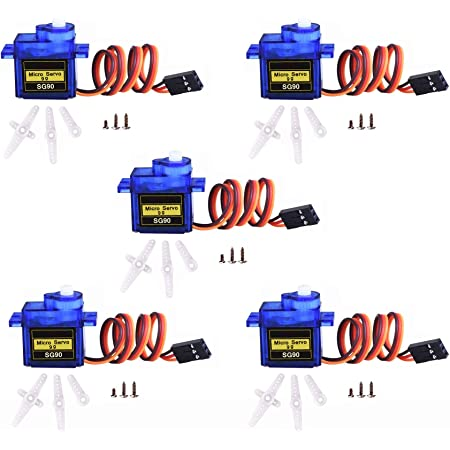 3Pcs Micro Servo Motor 5g SG50 For RC Robot Helicopter Airplane Boat Controls