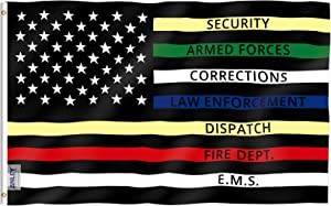 Anley Fly Breeze 3x5 Foot Thin Multi Line Flag - Vivid Color and Fade Proof - Canvas Header and Double Stitched - Red Blue Green Support Flags Polyester with Brass Grommets 3 X 5 Ft