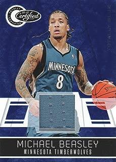 2010-11 Totally Certified Blue Jersey #132 Michael Beasley 80/99 Minnesota