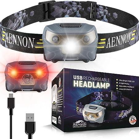 USB Wiederaufladbare LED Stirnlampe Scheinwerfer Kopflampe Headlampe Wasserdicht