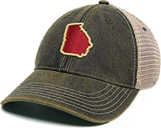 Legacy Athletics Old Favorite Trucker State of Georgia Embroidered Hat