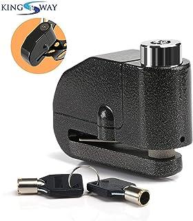 Kingsway alarm disc lock motorbike anti-theft disc brake lock with 110db alarm sound for motorcycle bike scooter