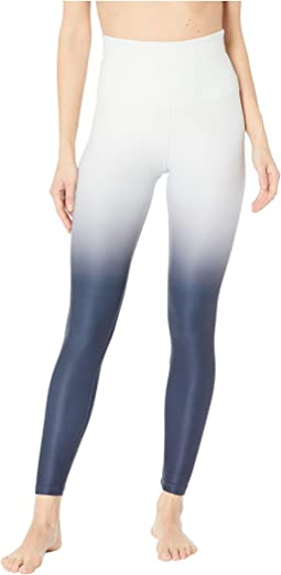 Ombre High-Waisted Midi Leggings