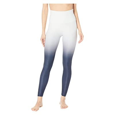 Beyond Yoga Ombre High-Waisted Midi Leggings (Glacier White/Nocturnal Navy Ombre) Women