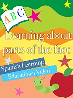 Learning about parts of the face Spanish Learning Educational Video