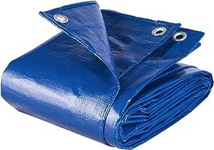 WOLTU GZ1211bl07 Afdekzeil Zeildoek 280g/m² in PE, Dekzeilen 4x6m waterdichte en UV-bestendig,Blauw