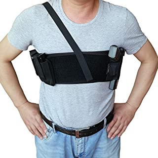 topmeet Deep Concealment Shoulder Holster with Double Velcro Removable Magazine Pouch