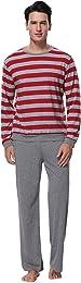 Pyjama Homme Hiver Coton Ensemble Pyjamas Chauds H