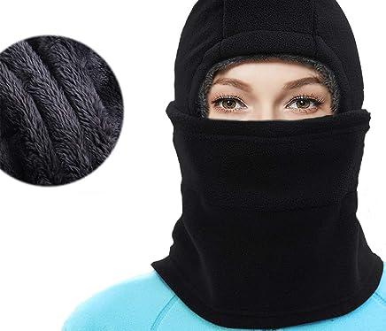 b657a3b071f Amazon.com  YQJYS Balaclava Ski Mask-Plus Velvet Keep Warm Tactical Hood- Mask Neck Lengthen (Black)  Clothing