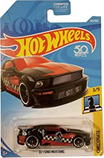 Hot Wheels 2018 50th Anniversary Checkmate '07 Ford Mustang (Knight) 165/365, Black