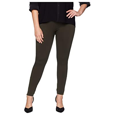 Spanx Plus Size Look at Me Now Seamless Side Zip Leggings (Deep Olive) Women