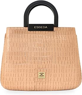 ESBEDA Beige Color Glossy shell Lightweight Handbag For Women