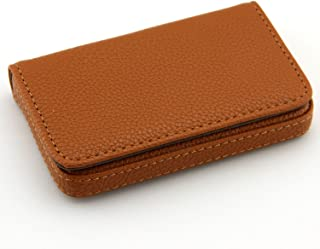 Partstock(TM) Flip Style Leather Business Name Card Wallet / Holder 25 Cards Case 4L x 2.8W inches with Magnetic Shut.(Coffee)