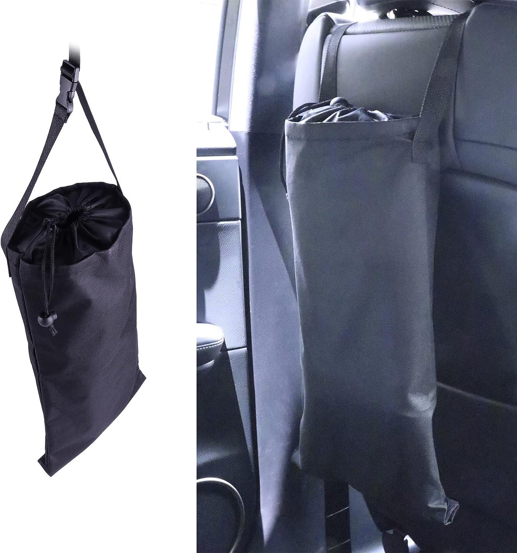 SINGARO Car Garbage Can, Universal Car Seat Adjustable Hanging Trash Can, Environmental Friendly Washable Reusable Garbage Bag
