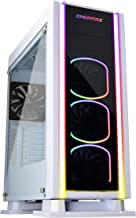 Enermax Saberay Limited White Edition Addressable RGB ATX Mid Tower Gaming PC Case with Tempered Glass, 3X 120mm Squa ARGB Fans (Front) & 1X 140mm Fan (Rear), ECA3500WA-RGB