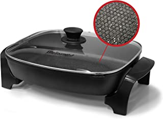 Elite Gourmet EG-6203 Deep Dish Heavy Duty, Easy-Pour Spout, Dishwasher Safe, 1500W Non-stick Electric Skillet with Temper...