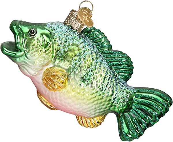 Old World Christmas Ornaments Largemouth Bass Glass Blown Ornaments For Christmas Tree