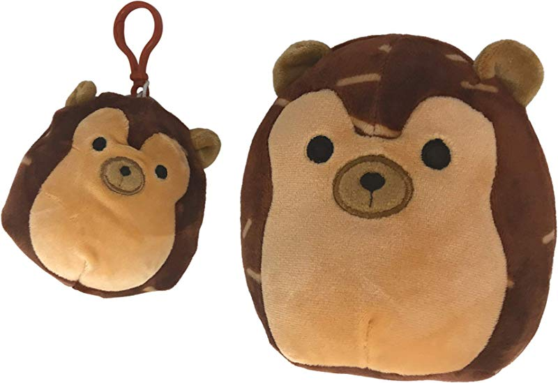 Squishmallow Bundle Of 2 Includes 5 Hans The Hedgehog 3 5 Hans The Hedgehog Clip On And A Fun Chop Chopstick Holder