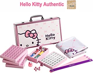 Hello Kitty Sanrio ハローキティ 144 Tiles Playing Mat 4 Pushers Pink Aluminum Complete Mahjong Set