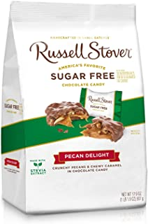Russell Stover Sugar Free Pecan Delight Gusset, 17.9 Ounce Bag, 4 Count