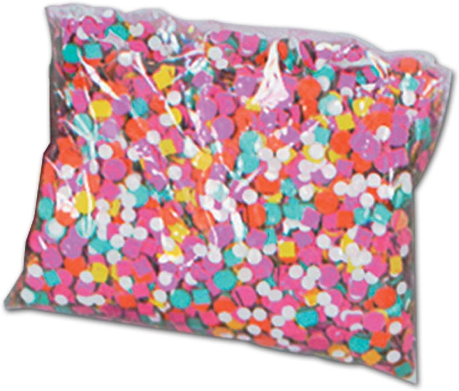 Club Pack of 50 PrePackaged Multicolord New Years Celebration Confetti Bags 2 oz.