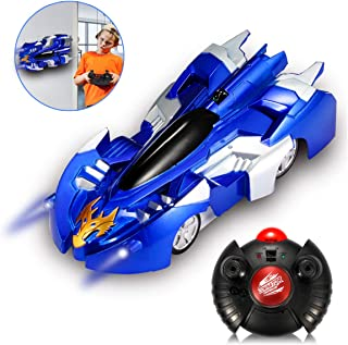 LCF Remote Control Car Gravity Defying RC Car,Race Car Toys for Floor or Wall / USB for Rechargeable Fast RC Car 360°Rotating Stunt Car for Boy Girl Kids Ideal for Birthday Gift (blue)