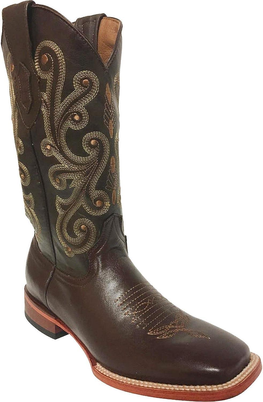 Ferrini Men's French Calf Chocolate Cowboy Boot Square Toe