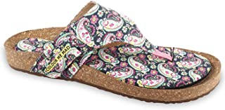 Colour Me Mad Green Printed, Natural Cork, Washable, All Weather, Vegan, Made in India, PETA Certified, Changeable Insole, Women Sandals