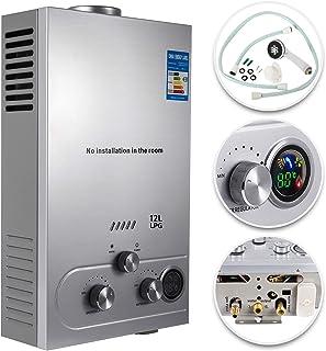 VEVOR Calentador de Gas 12L, Calentador de Agua de Gas Licuado de Petróleo12L, Calentador de Agua a Gas LPG, Calentador Gas, Calentador de Agua
