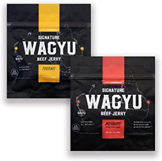 Greg Norman Signature Wagyu Beef Jerky | Variety 2oz | Keto + Paleo Friendly, Gluten Free Snack Made with All Natural 100% Australian Wagyu Beef, No Nitrates/Nitrites Added