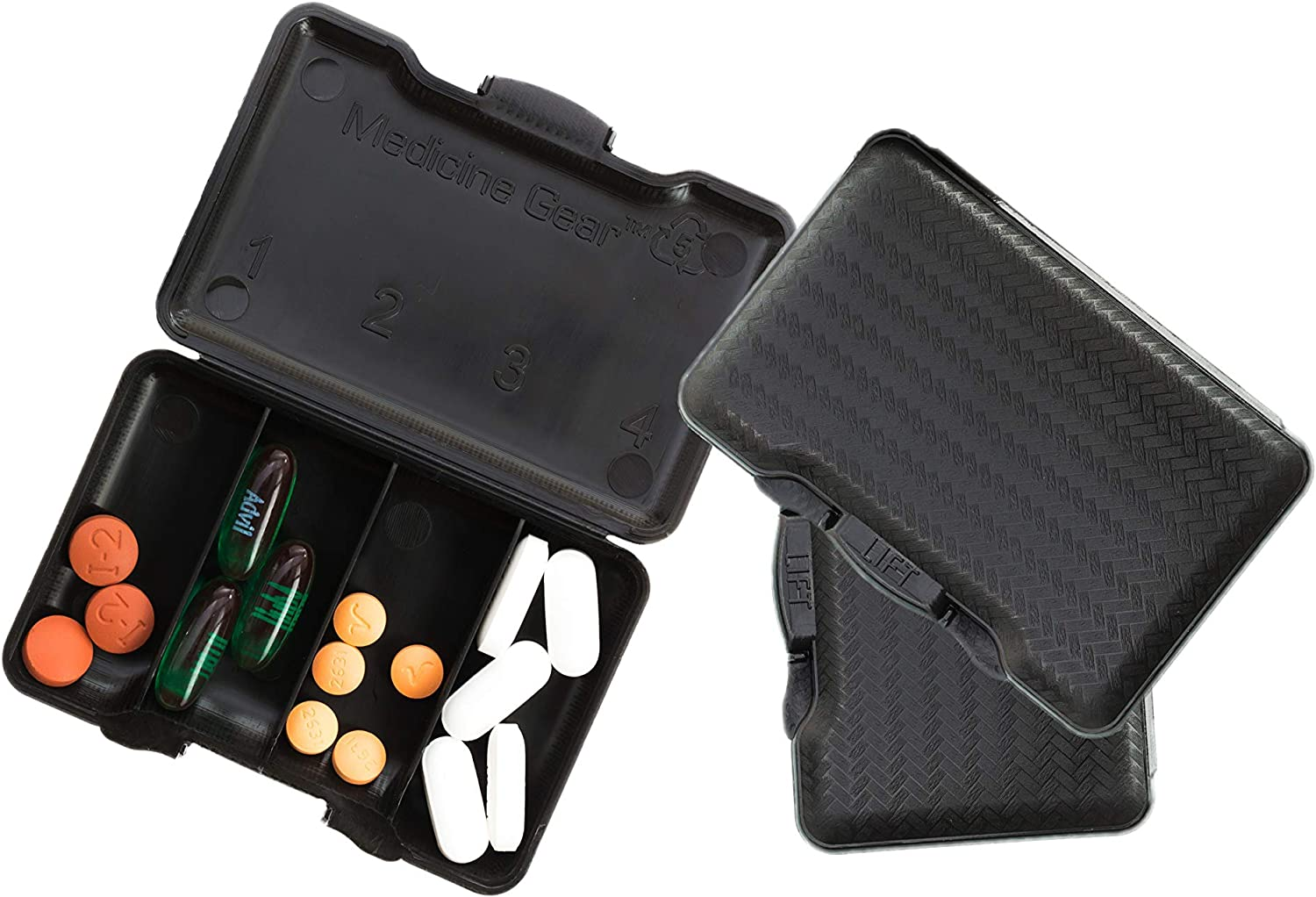 At the Charlotte Mall price of surprise Jet Black - Slim Traveler Pill case Box Travel for Small
