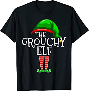 The Grouchy Elf Group Matching Family Christmas Gift Outfit T-Shirt