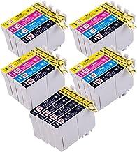 PerfectPrint Compatible Tinta Cartucho Reemplazo Para Epson Stylus S22 SX-125 130 420W 425W 445W 230 235W 445W 435W BX-305F 305FW T1285 (Negro/Cian/Magenta/Amarillo, 20-Paquete)