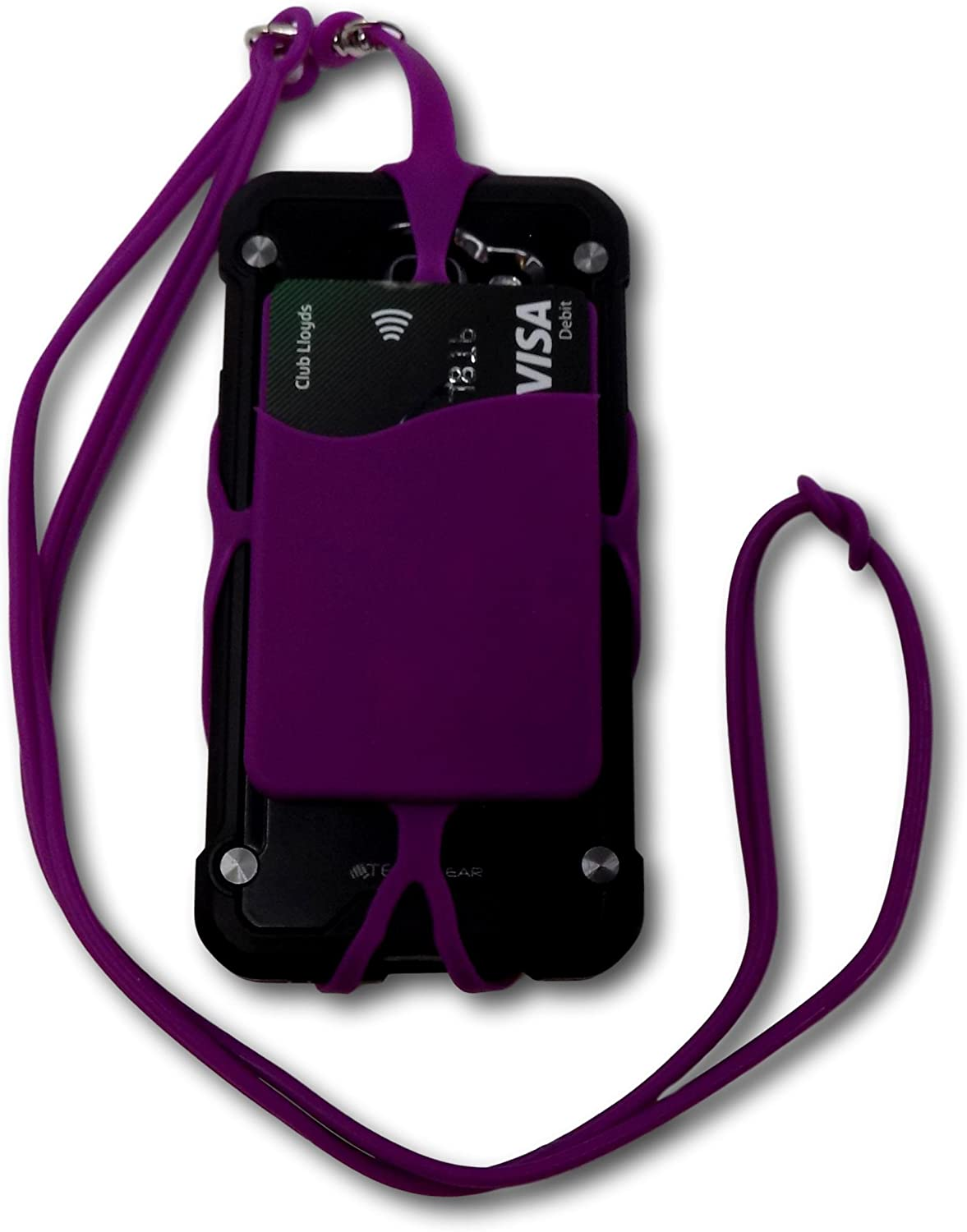 Yellow Minder Flexi-Grip Silicone Mobile Phone and Credit Card Holder Safety Adjustable Lanyard