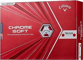 Callaway(キャロウェイ) ゴルフボール CHROME SOFT 2020年モデル 1ダース12個入り ホワイトレッド