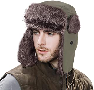YESURPRISE Trapper Warm Russian Trooper Fur Earflap Winter Skiing Hat