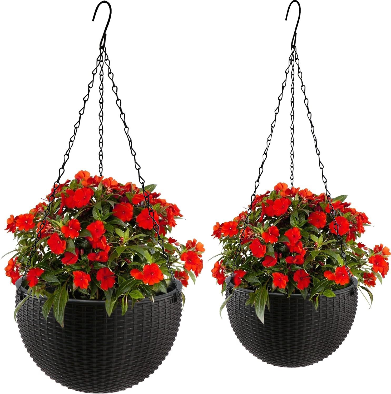 lowest price Brajttt Hanging Classic Basket Planter Set of Round 2 Gardening