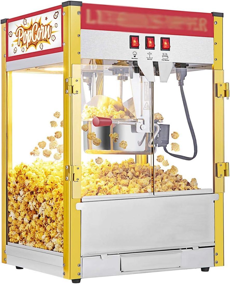 H.ZHOU Popcorn Poppers 8oz Large Capacity SALENEW very popular P Door Tabletop Over item handling Double