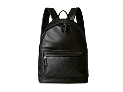 Lacoste L.12.12 Cuir Casual Backpack (Black) Backpack Bags
