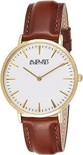 August Steiner Women's Quartz Watch, Analog Display and Leather Strap