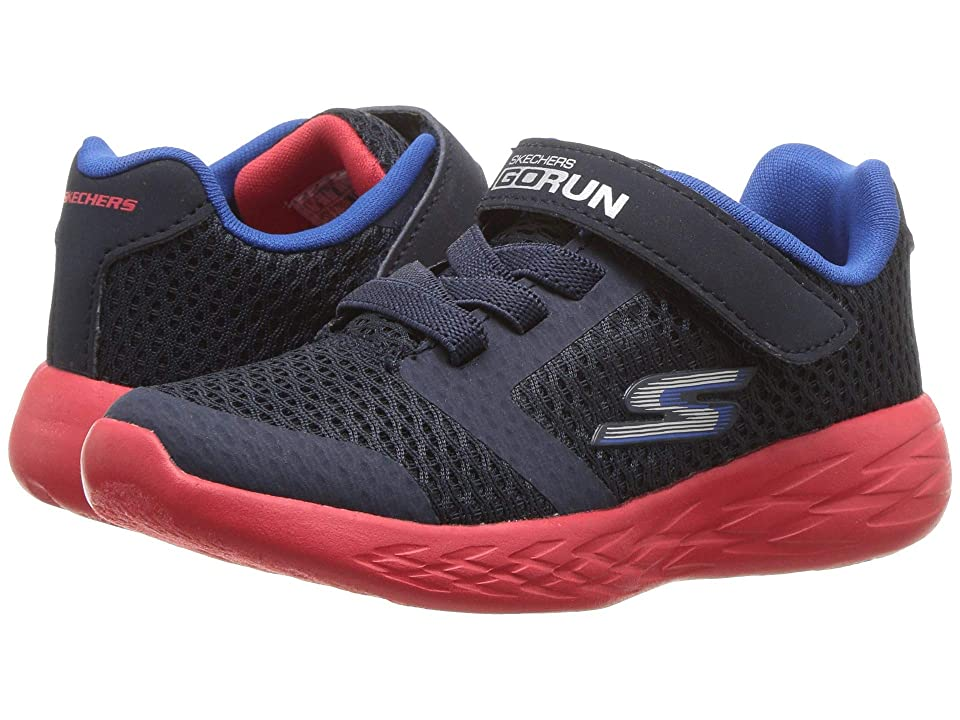 SKECHERS KIDS Go Run 600 (Toddler) (Navy/Red) Boy