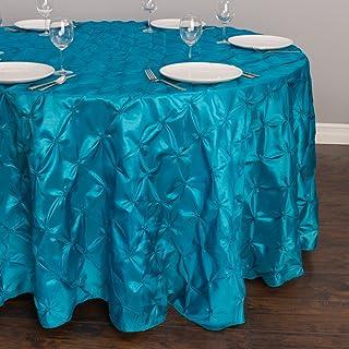 مفرش مفرش طاولة مستدير من LinenTablecloth ، كاريبي، 133 بوصة
